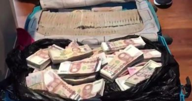 Cash from raid Chinese call center
