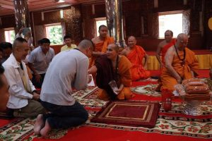 Dr Pak with Myanmar monk