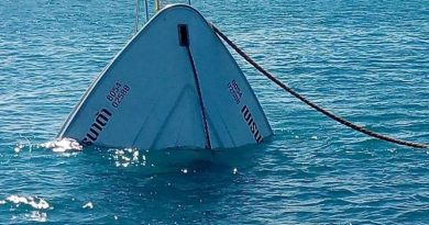 capsized boat near Phuket