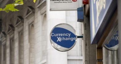 currency exchange sign