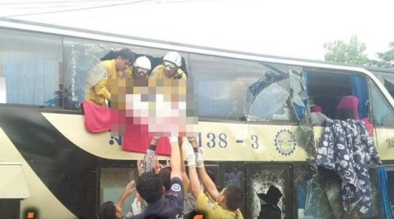 double-decker tour coach crash