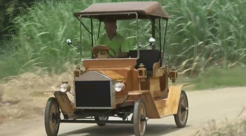 Furniture maker builds rd vintage wooden vehicle