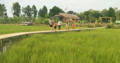 Bamboo bridge Korat Phimai district