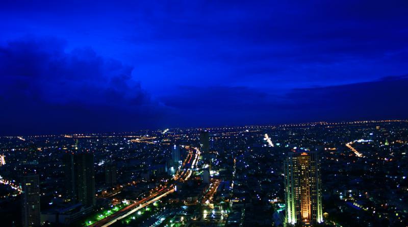 Bangkok at sunset