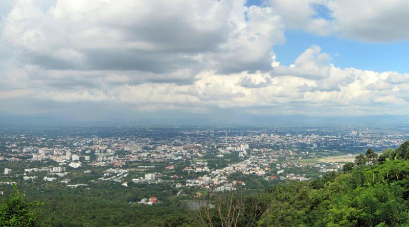 Chiang Mai city panorama