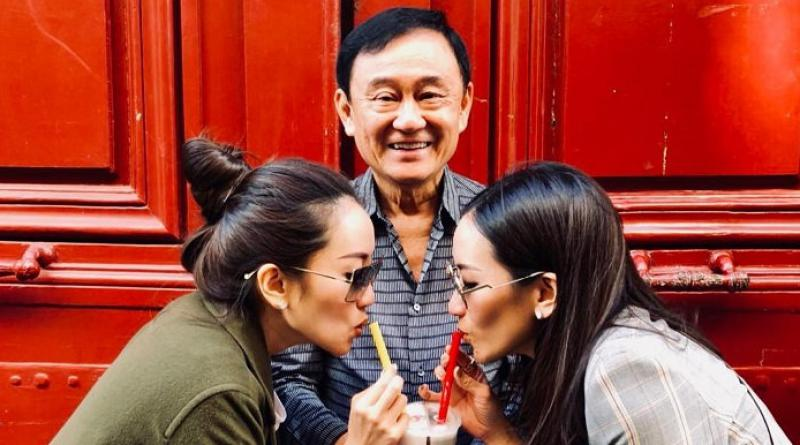 Thaksin and 2 daughters