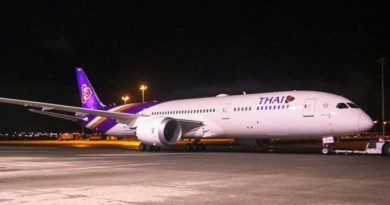 A Thai Airways jetliner