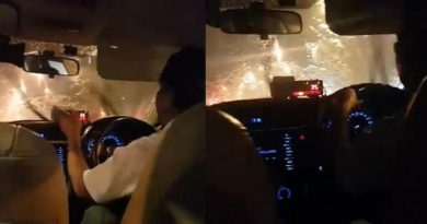 cabbie dumps passenger in a rainstorm