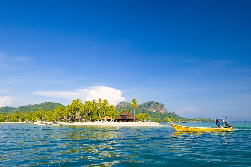 Muk Island is located in Hat Chao Mai National Marine Park, Trang