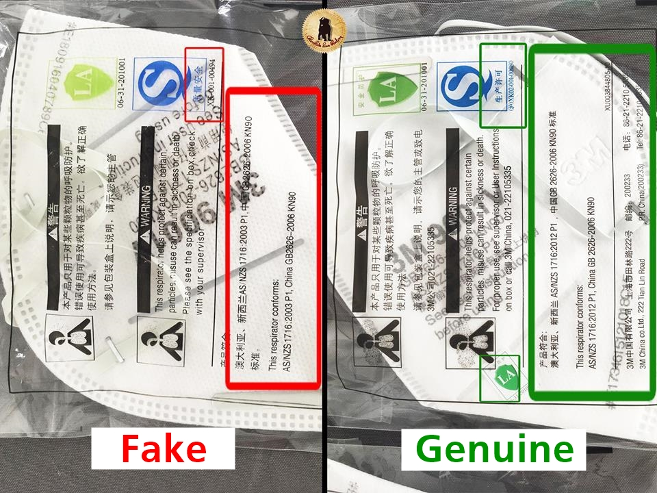 Right Of Beware In The Masks Fake Market N95 Now