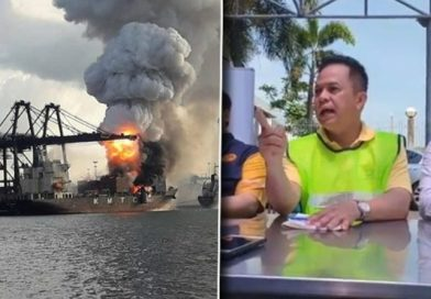 Fire on S.Korean ship at Laem Chabang