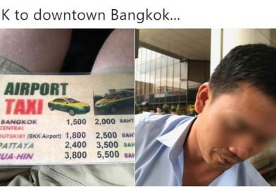 Proof that taxi drivers at the airport are overcharging tourists.