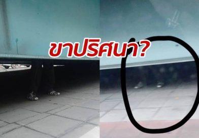 Mysterious legs under bridge frightened pedestrians
