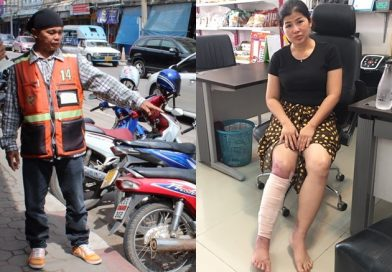 Win Motorbike driver saves woman from High Voltage cable