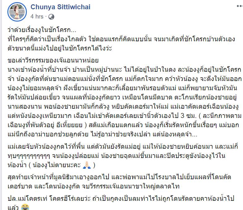 Facebook: Chunya Sittiwichai