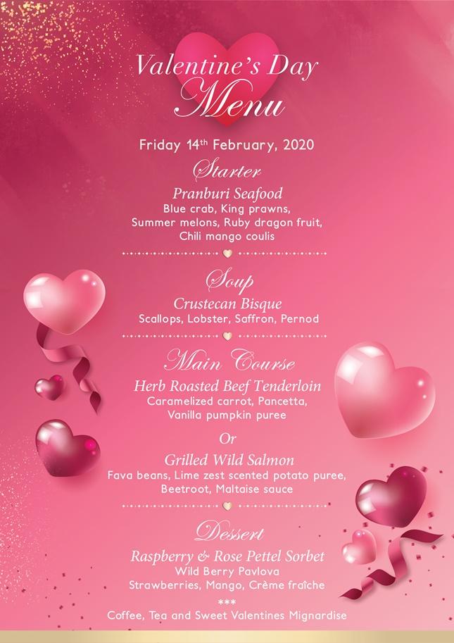 Romantic Dinner 2020 HHQPS-menu 1