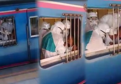 Auntie spitting on a train, now in quarantine.