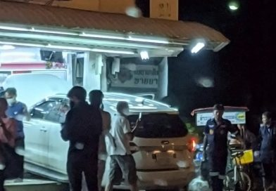 Car drives into convenience store, 5 injured.