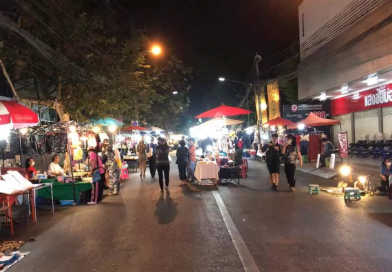 Chiang Mai 'Walking Street' quiet over fear of Covid-19
