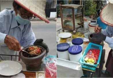 Woman steals 20 bags of food from 77-year-old seller.