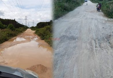 Villagers living with unpaved road for more than 40 years