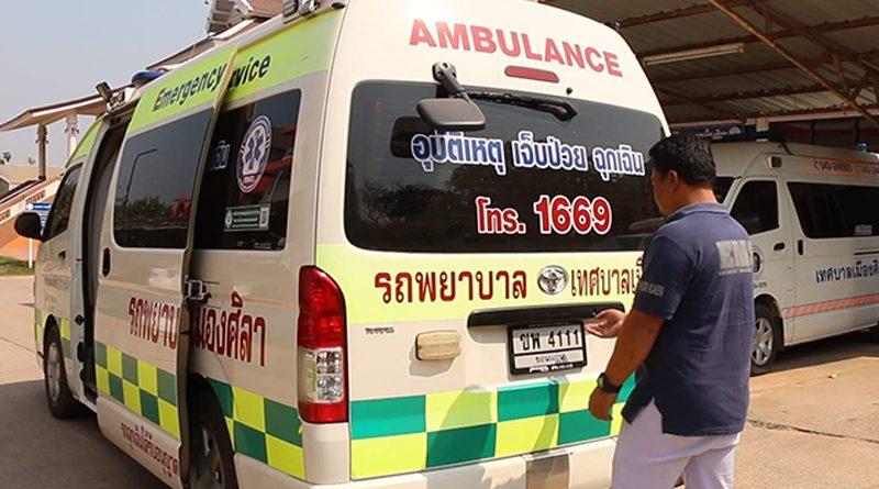 Burmese mother gives birth on ambulance in Khon Kaen Province.